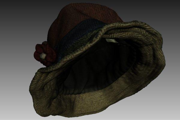 Cappello da donna per catalogo commerciale.